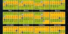Лунный календарь на 2015 год